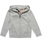 BURBERRY Boys Grey Cotton Knitted Cardigan