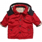 BURBERRY Boys Red Padded Coat
