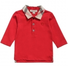 BURBERRY Boys Red Cotton Polo Shirt