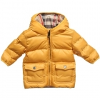 BURBERRY Boys Yellow Puffer Coat