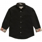 BURBERRY Boys Black Cotton Shirt