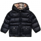 BURBERRY Boys Blue Puffer Jacket