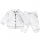 BURBERRY Baby White Velour Tracksuit-80320