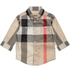 BURBERRY Boys Beige Nova Check Cotton Shirt