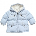 BURBERRY Pale Blue Padded Coat-80301