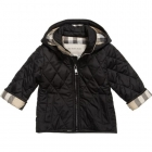 BURBERRY Boys Black Quilted Jacket-80267
