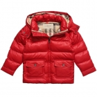 BURBERRY Red Puffer Coat