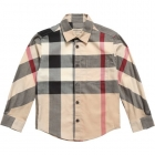 BURBERRY Boys Half Mega Nova Check Cotton Shirt-80190
