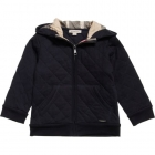 BURBERRY Navy Blue Quilted Cotton Jacket