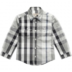 BURBERRY Cotton Super Exploded Check Shirt-80192