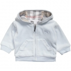 BURBERRY Boys Pale Blue Velour Hooded Top-80299