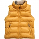 BURBERRY Boys Yellow Padded Sleeveless Jacket