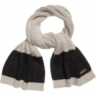 BURBERRY Grey Cable Knit Scarf