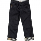 BURBERRY Boys Navy Blue Chino Trousers-80222