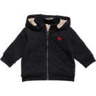 BURBERRY Boys Navy Blue Quilted Jacket
