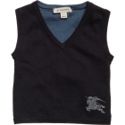 Boys Navy Blue Cotton Knitted Slipover