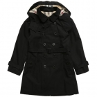 BURBERRY Boys Black Classic Trench Coat