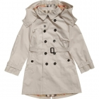 BURBERRY Boys Beige Classic Trench Coat