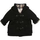 BURBERRY Black Wool Duffle Coat
