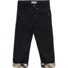BURBERRY Boys Navy Blue Gabardine Trousers-80225