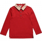 BURBERRY Boys Beige Cotton Polo Shirt