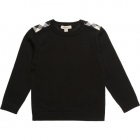 BURBERRY Boys Navy Blue Cotton and Wool Sweater-80195
