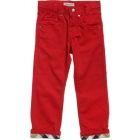 BURBERRY Boys Red Gabardine Trousers