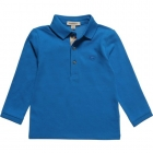 BURBERRY Boys Turquoise Pique Cotton Polo Shirt