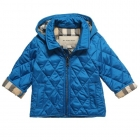 BURBERRY Boys Blue Quilted Jacket-80268