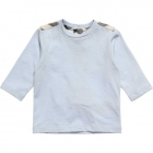 BURBERRY Boys Blue Cotton Long Sleeved T-Shirt