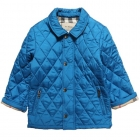 BURBERRY Boys Blue Nylon Quilted Jacket