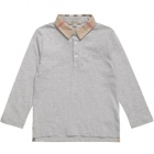 BURBERRY Boys Grey Cotton Polo Shirt-80182