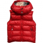 BURBERRY Red Padded Sleeveless Jacket