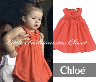 harper-seven-beckham-chloe-orange-red-dress