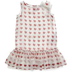 MONNALISA Heart Print Chiffon Dress モナリザ女の子2014春夏43-C1