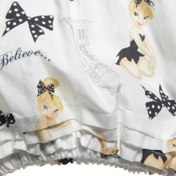 Monnalisa Girls Tinkerbell Print Cotton Playsuit モナリザ女の子2014春夏43-D2
