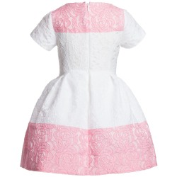 SIMONETTA White and Pink Floral Dress