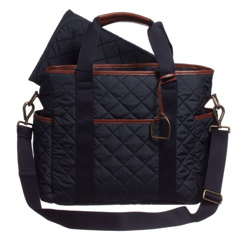 RALPH LAUREN Navy Blue Quilted Changing Bag_baby bag_ラルフローレン キルティング マザーズバッグ