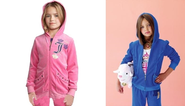 JUICY COUTURE_kids_ジューシークチュールキッズ_子供服_ベロアセットアップ_上下_チルドレン