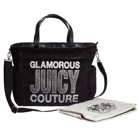 juicy-couture-black-velour-diamante-changing-bag-with-mat-ジューシークチュール_マザーズバッグ_ベビー_通販_ママバッグ_オムツ替えマット