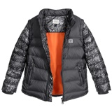 アルマーニジュニアarmani-boys-grey-down-padded-2-in-1-jacket